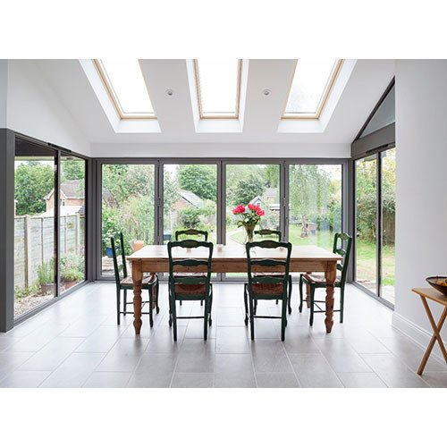 DoorsDirect2u Aluminium 4 Door Bi-fold Patio Doorset