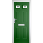 DoorsDirect2u Black Composite London Glazed Front Door