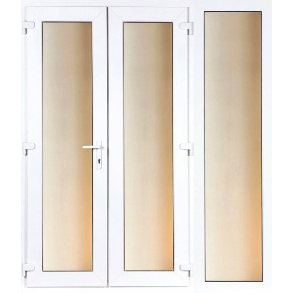 DoorsDirect2u 1800MM PVCu French Door and 600MM Sidelite Combination