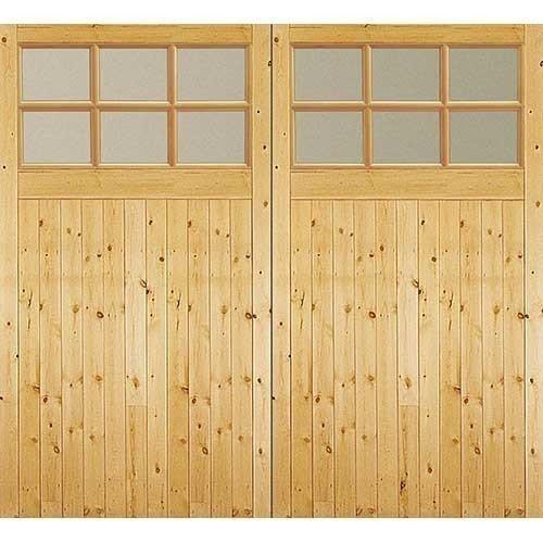 Jeld Wen Side Hung Glazed Timber Garage Doors 2134mm X