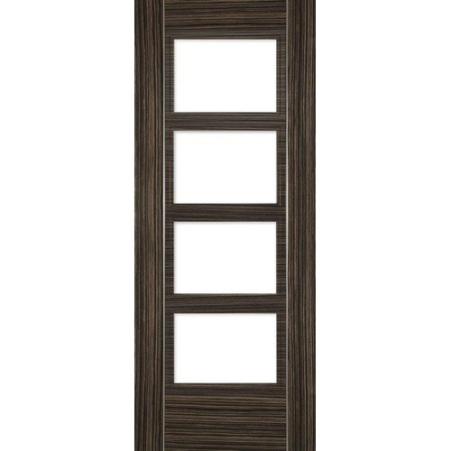 DoorsDirect2u Deanta Calgary Abachi Prefinished Glazed Internal Fire Door