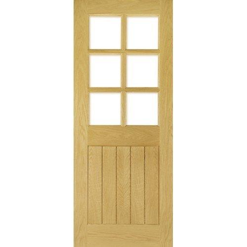 DoorsDirect2u Deanta Ely Oak 6 Lite Glazed Internal Door