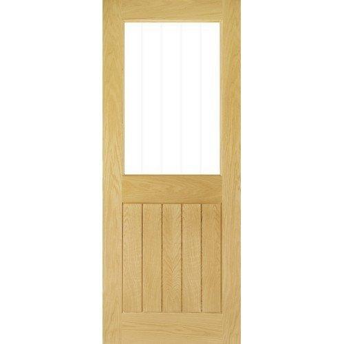 DoorsDirect2u Deanta Ely Oak 1 Lite Glazed Internal Door