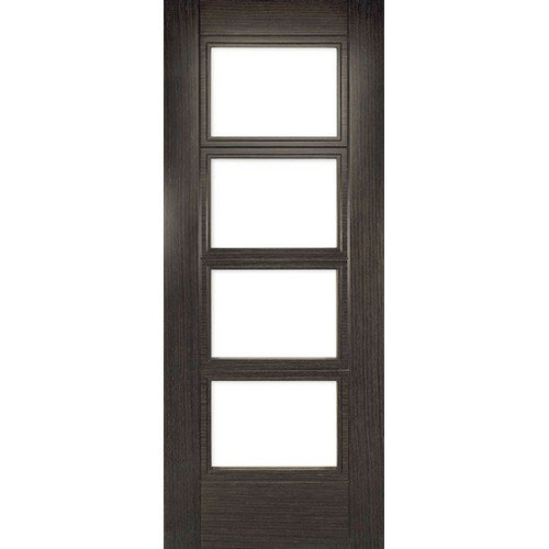 DoorsDirect2u Deanta Montreal Dark Grey Ash Prefinished Glazed Internal Fire Door