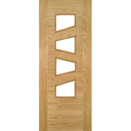 DoorsDirect2u Deanta Seville Oak Glazed 4Ls Prefinished Internal Door