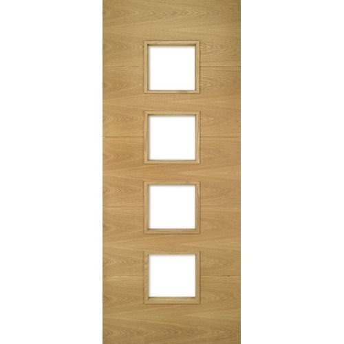 DoorsDirect2u Deanta Augusta Oak Glazed Prefinished Internal Fire Door