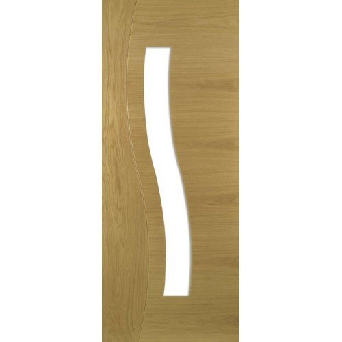 DoorsDirect2u Deanta Cadiz Oak Glazed Prefinished Internal Door
