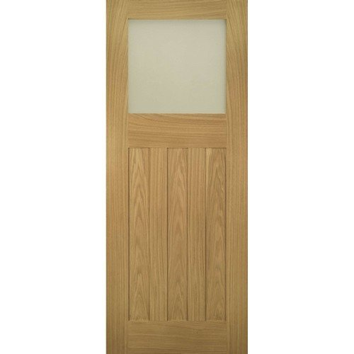 DoorsDirect2u Deanta Cambridge Oak Glazed Internal Door