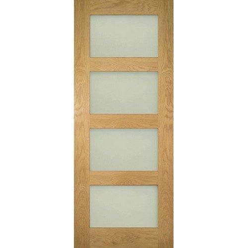 DoorsDirect2u Deanta Coventry Oak Obscure Glazed Internal Door