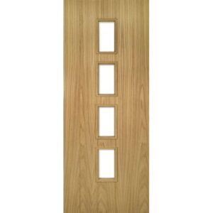 DoorsDirect2u Deanta Galway Oak Unglazed Internal Fire Door