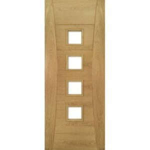 DoorsDirect2u Deanta Pamplona Oak Unglazed Prefinished Internal Fire Door