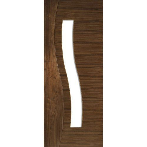 DoorsDirect2u Deanta Cadiz Walnut Glazed Prefinished Internal Door
