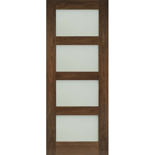 DoorsDirect2u Deanta Coventry Walnut Obscure Glazed Prefinished Internal Door