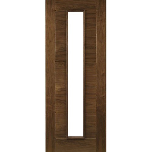 DoorsDirect2u Deanta Seville Glazed Walnut Prefinished Internal Fire Door