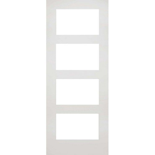 DoorsDirect2u Deanta Coventry White Primed Clear Glazed Internal Door