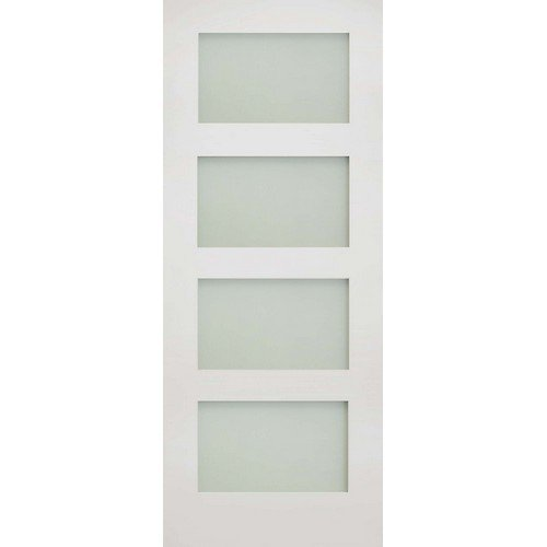DoorsDirect2u Deanta Coventry White Primed Obscure Glazed Internal Door