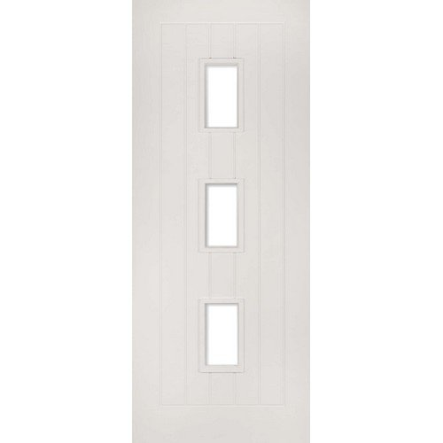 DoorsDirect2u Deanta Ely White Primed Glazed Internal Fire Door