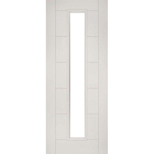 DoorsDirect2u Deanta Seville White Primed Glazed Internal Fire Door