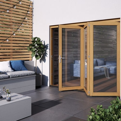 DoorsDirect2u JELD-WEN 1800MM Kinsley Hardwood Folding Patio Doors