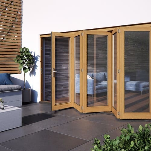 DoorsDirect2u JELD-WEN 3600MM Kinsley Hardwood Folding Patio Doors