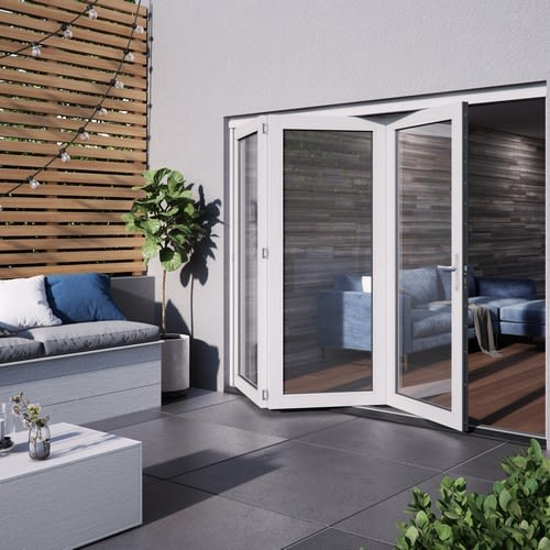 DoorsDirect2u JELD-WEN 2400MM Bedgebury Hardwood Folding Patio Doors