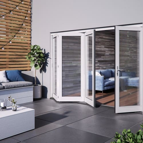DoorsDirect2u JELD-WEN 3000MM Bedgebury Hardwood Folding Patio Doors