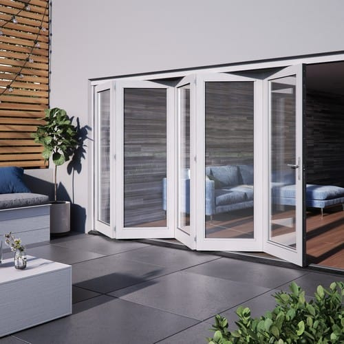 DoorsDirect2u JELD-WEN 3600MM Bedgebury Hardwood Folding Patio Doors