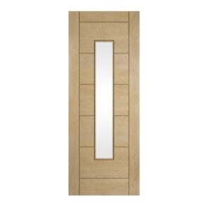 DoorsDirect2u JELD-WEN Oregon Oak Ladder Glazed Oak Veneer