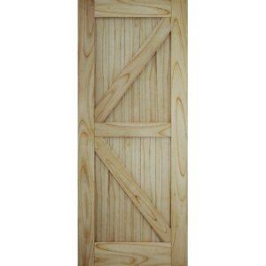 DoorsDirect2u JELD-WEN Framed Ledged and Braced Sliding Barn Door