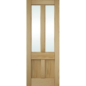 DoorsDirect2u JELD-WEN 4 Panel Clear Glazed Oak Interior Door