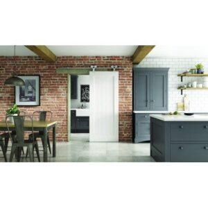 DoorsDirect2u JELD-WEN Primed Cottage Sliding Barn Door