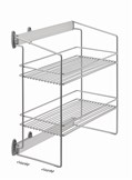 Side Pull Out Unit With Two Wire Tiers