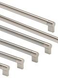 Keyhole bar handle, brushed nickel