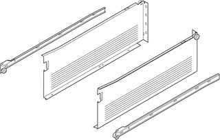 Blum Cream Metabox Drawer 150mm High