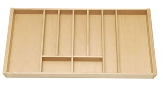 Beech cutlery insert for 900mm cabinet using Tandembox.