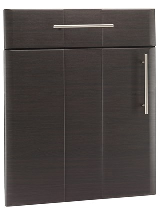 Grove Drawer Front In Hacineda Black