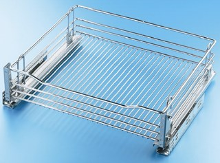 Chrome Wire Drawer 400mm (Integrated Blumotion)
