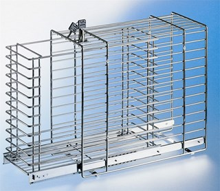 Chrome Wire Basket With Safety Lock