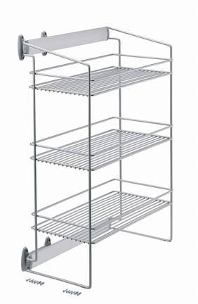 Side Pull Out Unit With Three Wire Tiers