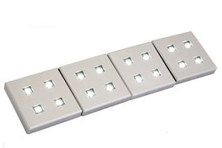 Square Plinth Light, Set of 4 inc. Transformer