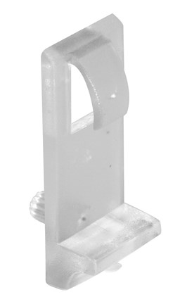 Shelf Support With Tongue For 15mm Shelves Clear