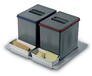 In-Drawer Waste Bin (230mm height) to Suit 600mm Cabinet