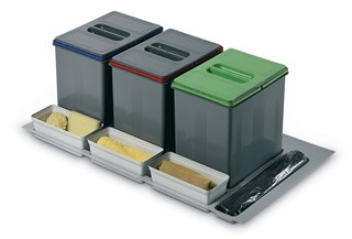 In-Drawer Waste Bin (230mm height) to Suit 900mm Cabinet