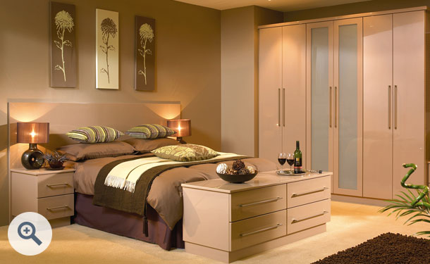 High Gloss Cappuccino bedroom picture