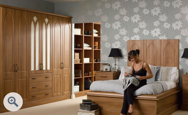 Medium Walnut bedroom picture