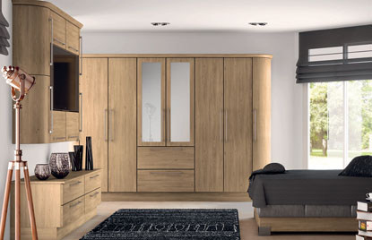 Premier Duleek bedroom in Odessa Oak finish