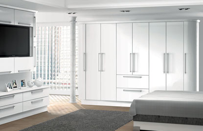 Premier Duleek bedroom in High Gloss White finish