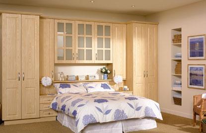 Beaded Paris bedroom in Loire Ash