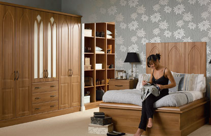 Premier Porto bedroom in Medium Walnut finish