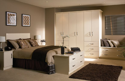 Premier Duleek bedroom in High Gloss Cream finish